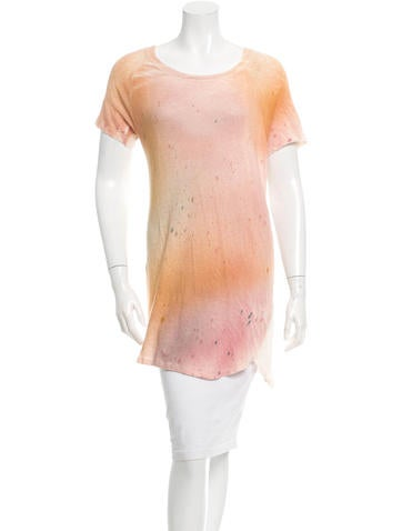 Raquel Allegra Printed Crew Neck Tunic w/ Tags None