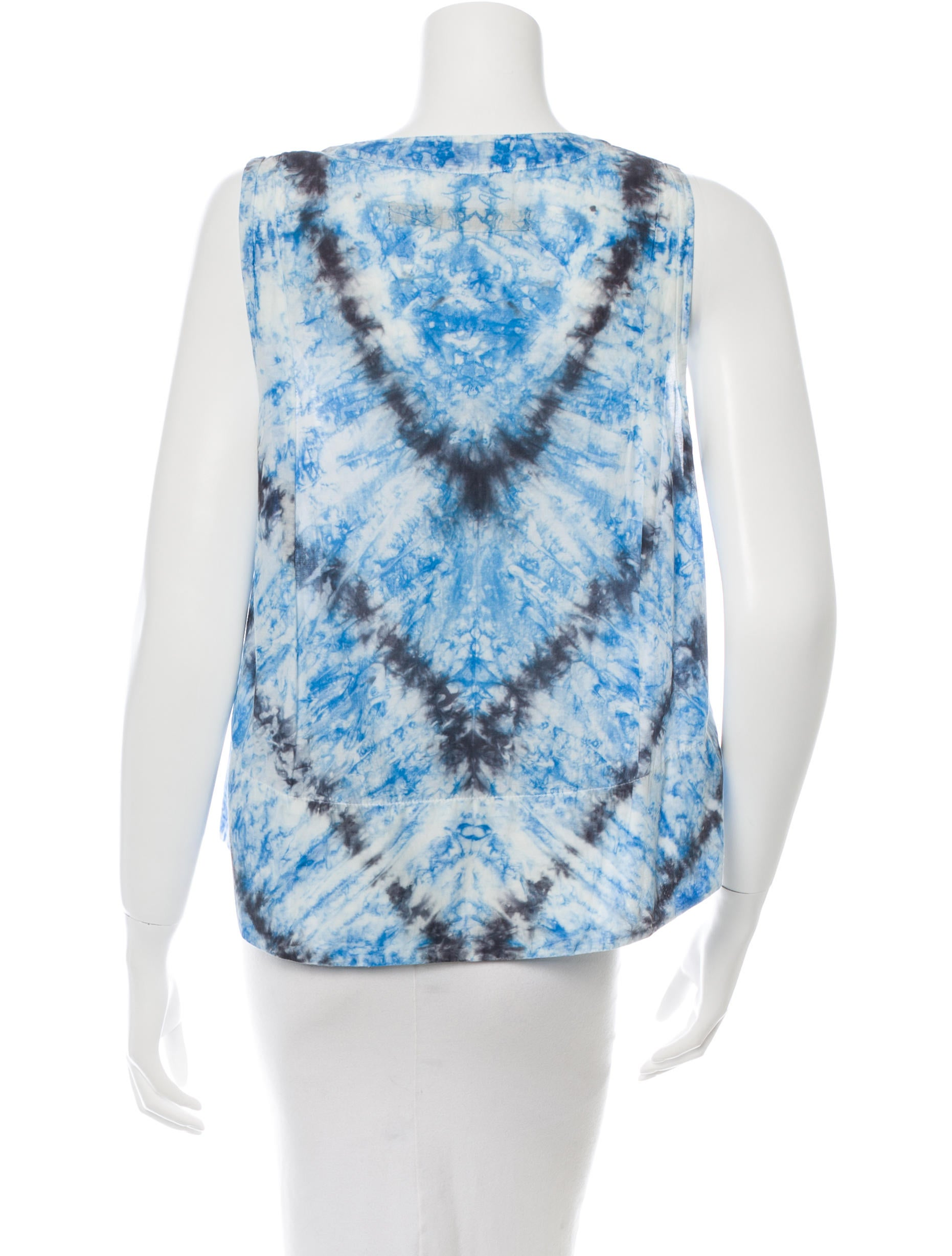Raquel allegra sleeveless tie dye top clothing for Tie dye sleeveless shirts