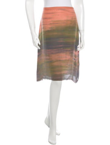 Raquel Allegra Silk Watercolor Skirt