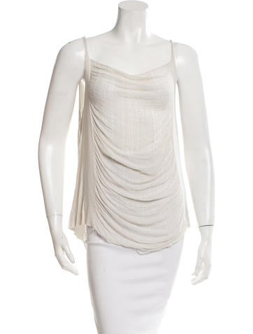 Raquel Allegra Distressed Sleeveless Top