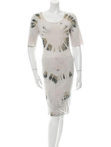 Raquel Allegra Tie-Dye Midi Dress w/ Tags None