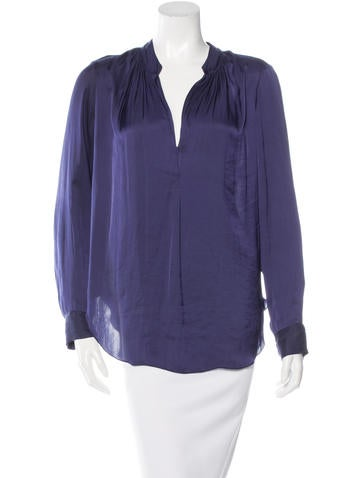 Raquel Allegra Ruched Long Sleeve Top None
