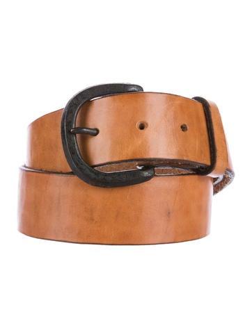 raquel allegra aged leather belt accessories