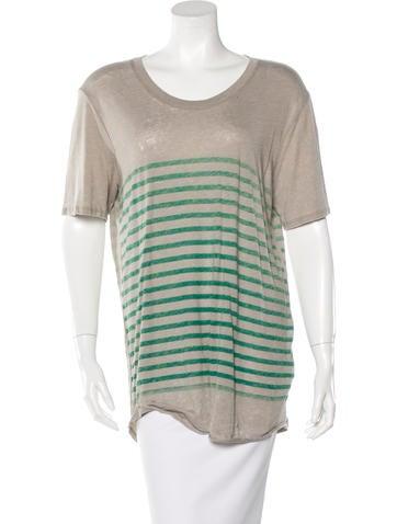 Raquel Allegra Striped Short Sleeve T-Shirt None