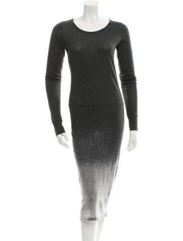 Raquel Allegra Long Sleeve Midi Dress None