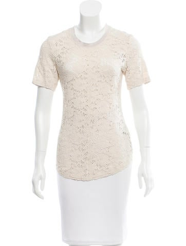 Raquel Allegra Lace Short Sleeve Top None