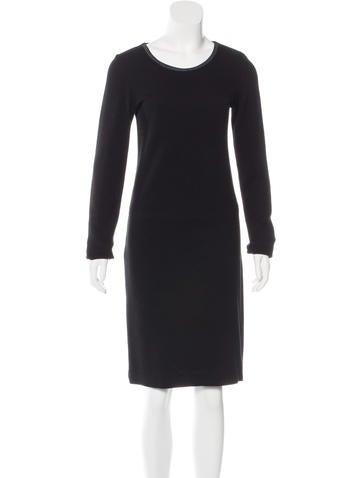 Raquel Allegra Suede-Trimmed Knit Dress None