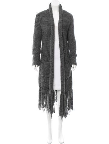 Raquel Allegra Fringe-Accented Long Sleeve Cardigan None