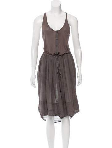 Raquel Allegra Drawstring-Accented Sleeveless Dress w/ Tags None