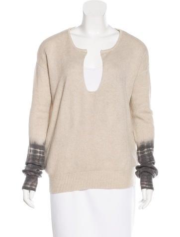 Raquel Allegra Cashmere Distressed Sweater None