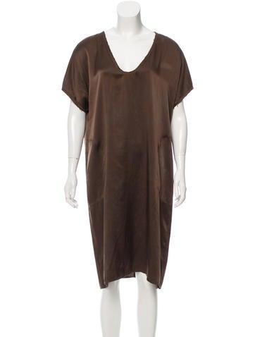 Raquel Allegra Silk Midi Dress w/ Tags None