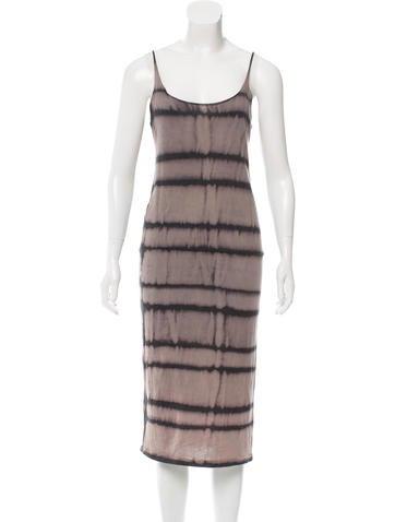Raquel Allegra Tie-Dye Patterned Sleeveless Dress None