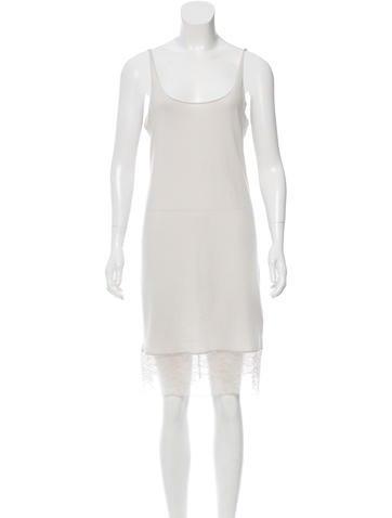 Raquel Allegra Lace-Accented Slip Dress w/ Tags None