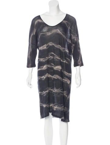 Raquel Allegra Tie-Dye Semi-Sheer Dress w/ Tags None