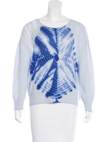 Raquel Allegra Cashmere Tie-Dye Sweater None