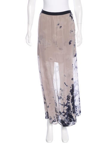 Raquel Allegra Silk Tie-Dye Skirt