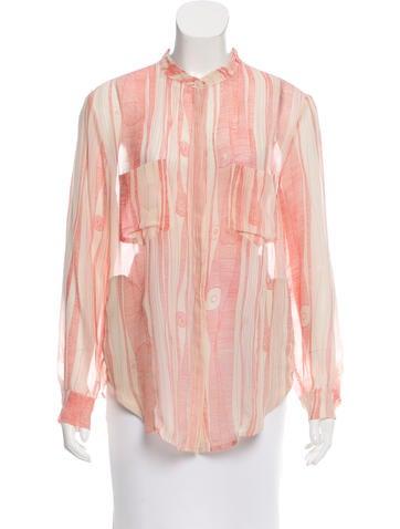 Raquel Allegra Abstract Print Silk Top None