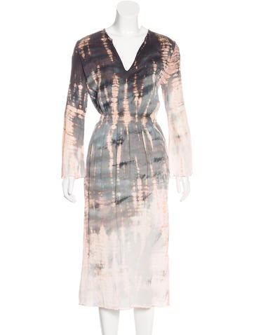 Raquel Allegra Silk Tie-Dyed Dress w/ Tags None