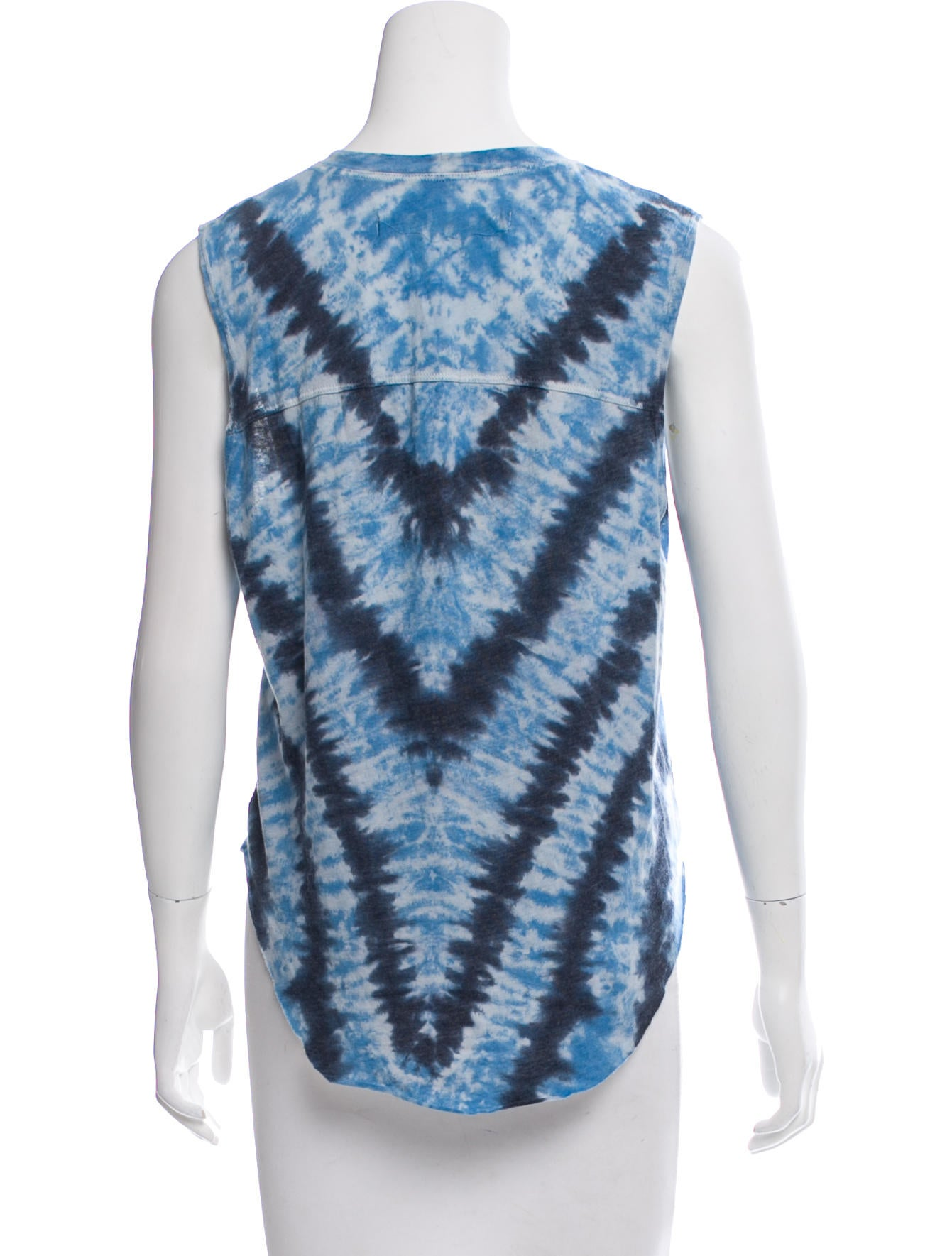 Raquel allegra tie dye sleeveless top clothing for Tie dye sleeveless shirts