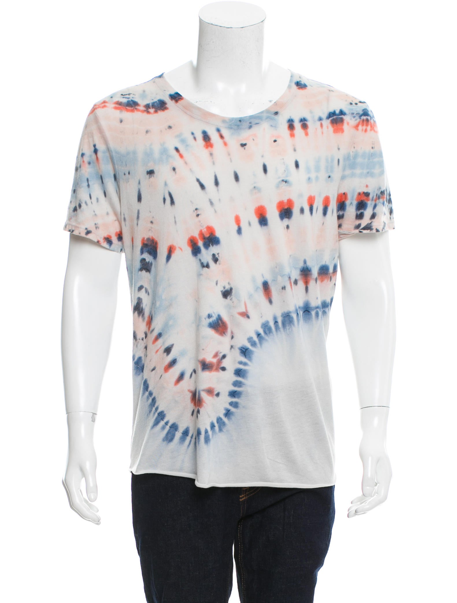 raquel allegra tie dye crew neck t shirt w tags
