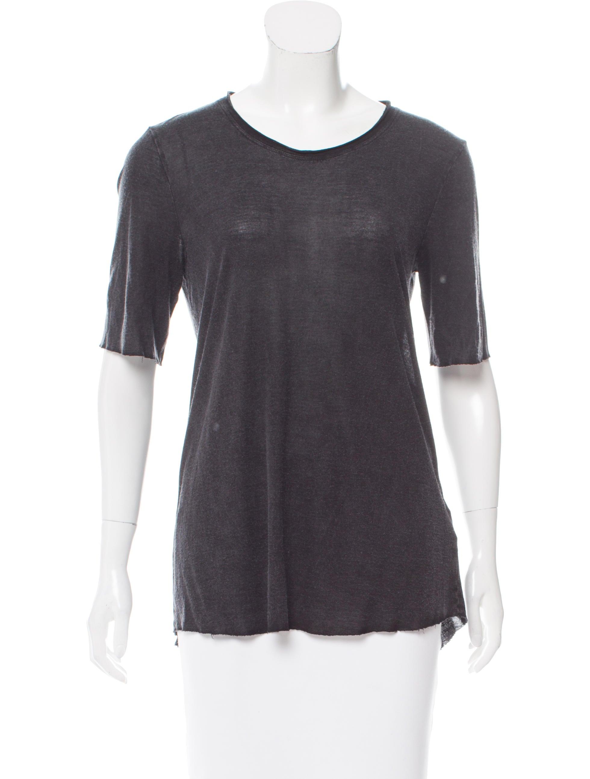 Raquel Allegra Scoop Neck High Low T Shirt W Tags