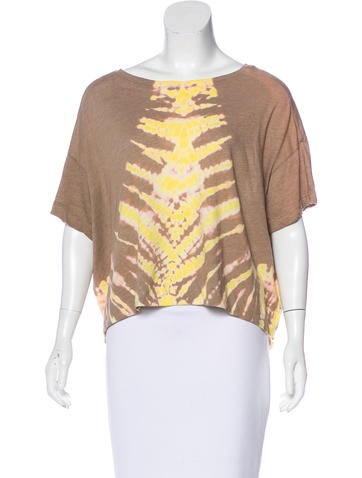 Raquel Allegra Short Sleeve Distressed T-Shirt None