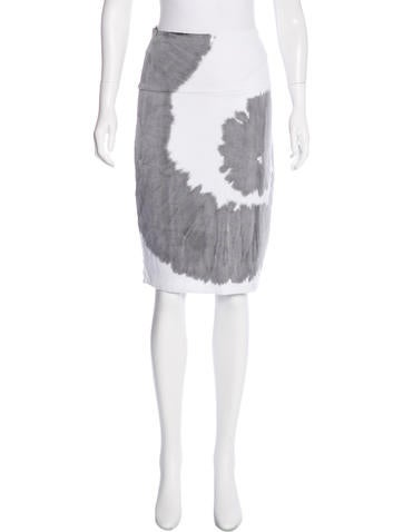 Raquel Allegra Tie-Dye Print Knee-Length Skirt w/ Tags None