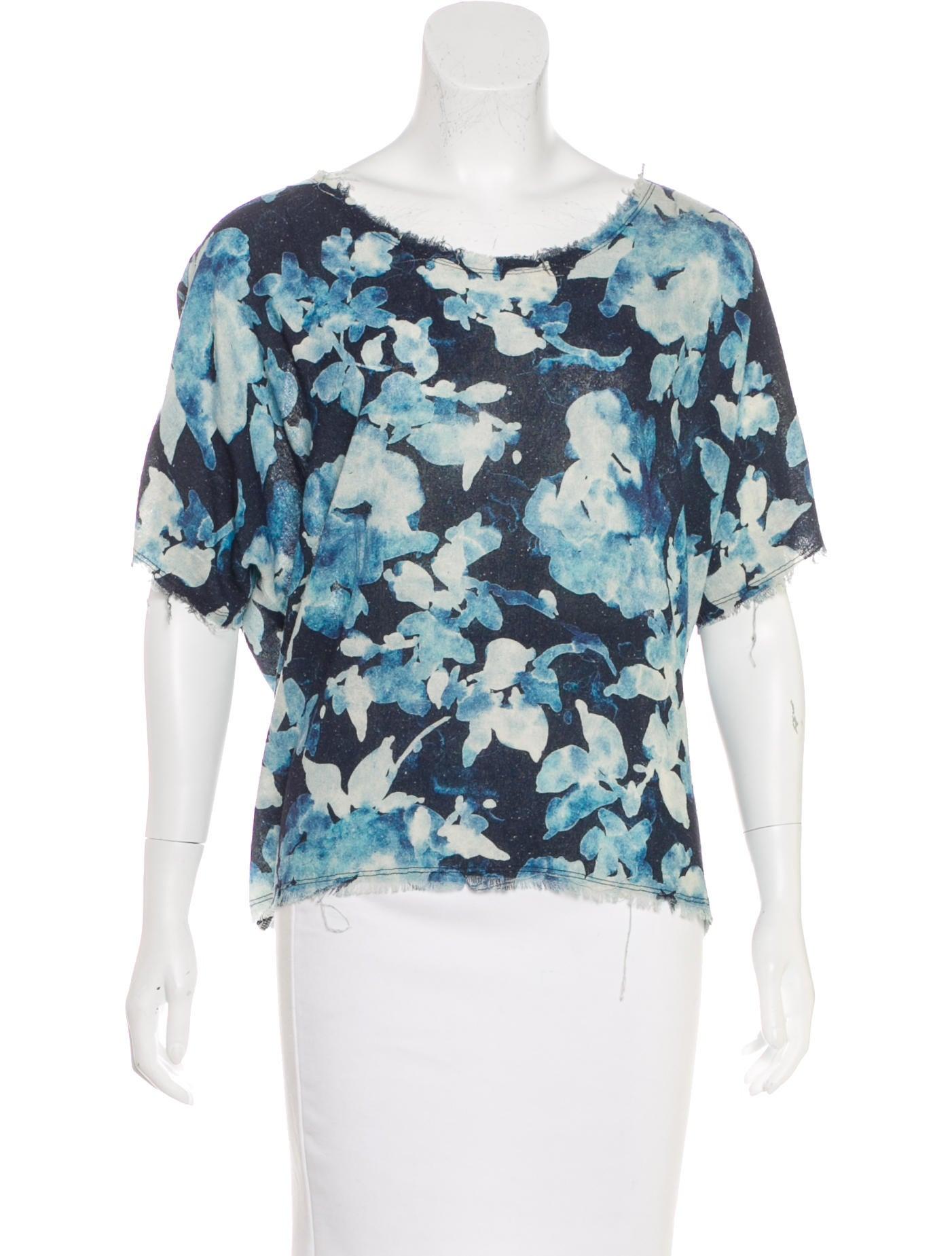 Raquel allegra raw edge silk t shirt clothing for Raw edge t shirt women s