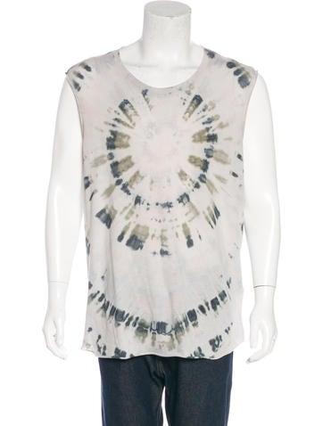 Raquel allegra sleeveless tie dye t shirt clothing for Tie dye sleeveless shirts