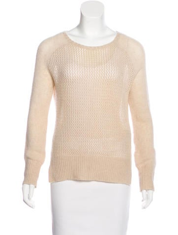 Raquel Allegra Cashmere Open Knit Sweater None