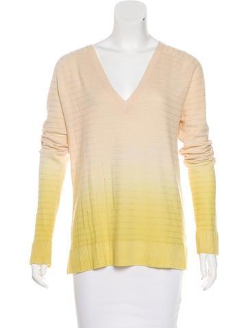 Raquel Allegra Wool & Cashmere Ombré Sweater None