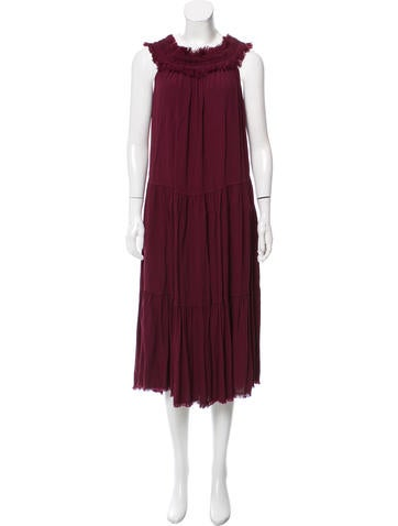 Raquel Allegra Off-The-Shoulder Silk Dress w/ Tags None