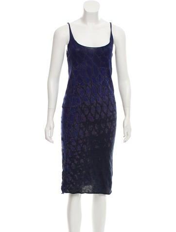 Raquel Allegra Tie-Dye Midi Dress None