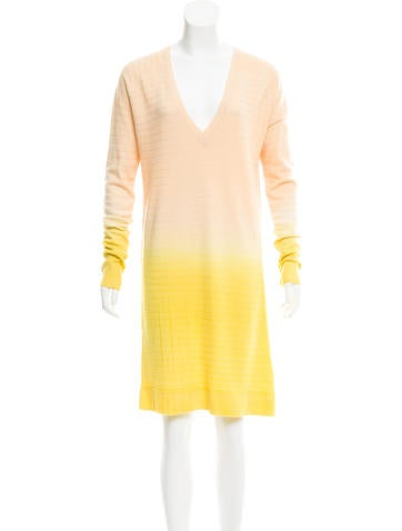 Raquel Allegra Ombré Wool-blend Sweater Dress None