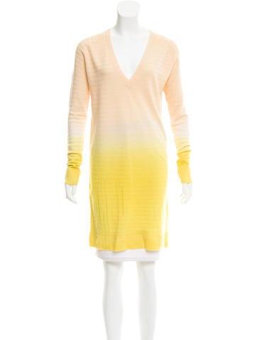 Raquel Allegra Wool Cashmere-Blend Ombré Dress w/ Tags None