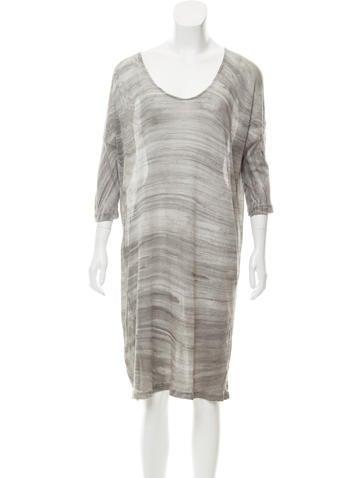 Raquel Allegra Printed Knee-Length Dress w/ Tags None