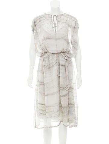 Raquel Allegra Silk Printed Dress w/ Tags None