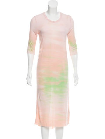Raquel Allegra Tie-Dye Printed Midi Dress w/ Tags None
