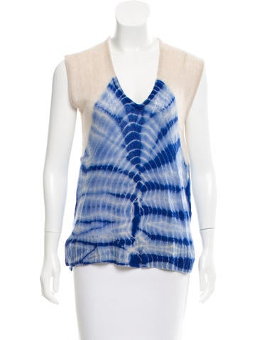 Raquel Allegra Tie-Dye Cashmere Sweater None