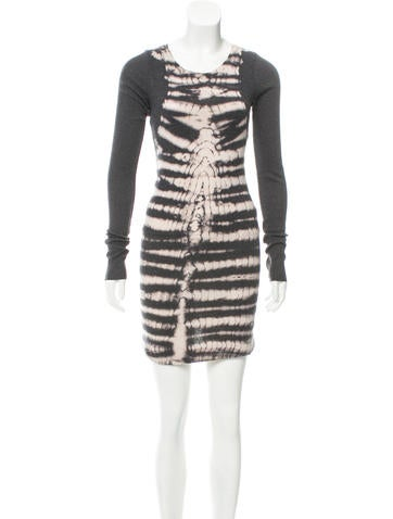 Raquel Allegra Rib Knit Tie-Dye Dress None