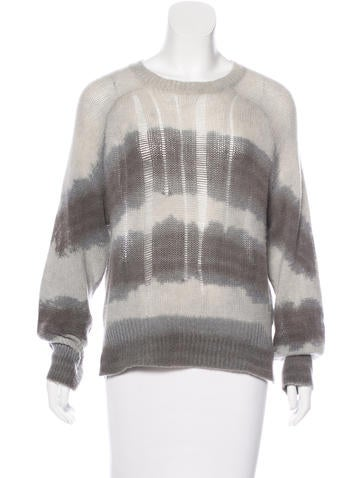 Raquel Allegra Striped Cashmere Knit Sweater None