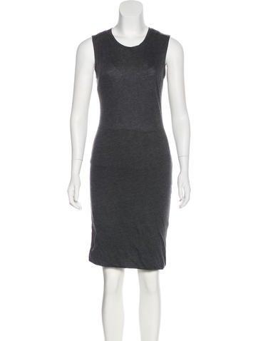Raquel Allegra Sleeveless Knee-Length Knit Dress None