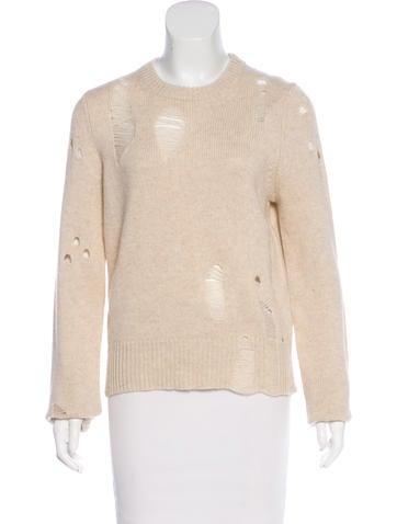 Raquel Allegra Distressed Cashmere Sweater w/ Tags None