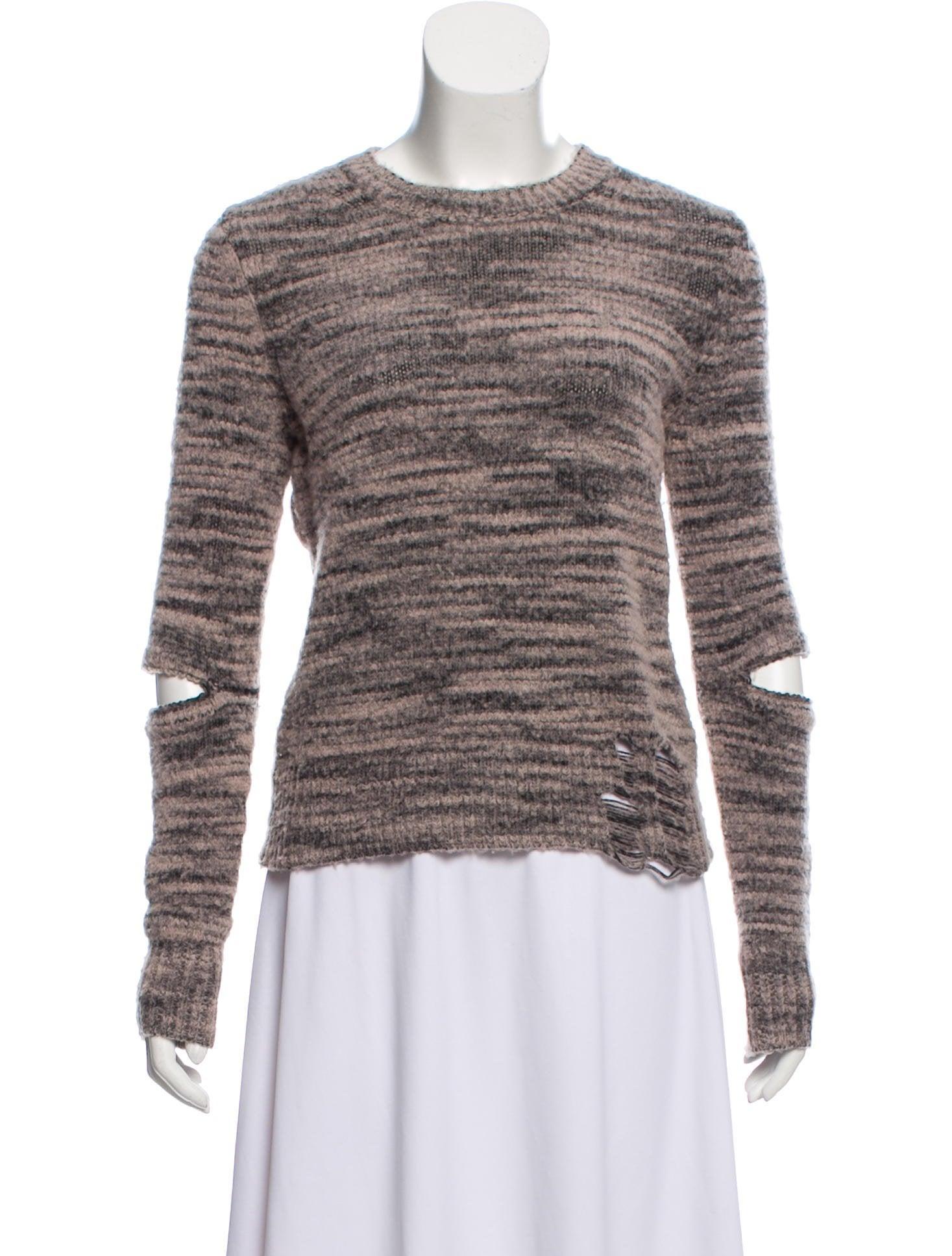 c07b0b39d25 Raquel Allegra Distressed Knit Sweater - Clothing - WRQLL32971