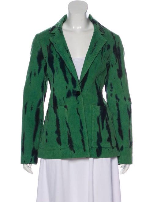 Raquel Allegra Tie-Dye Print Blazer Green