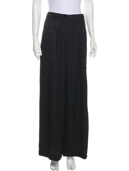 Raquel Allegra Silk Pajamas Black