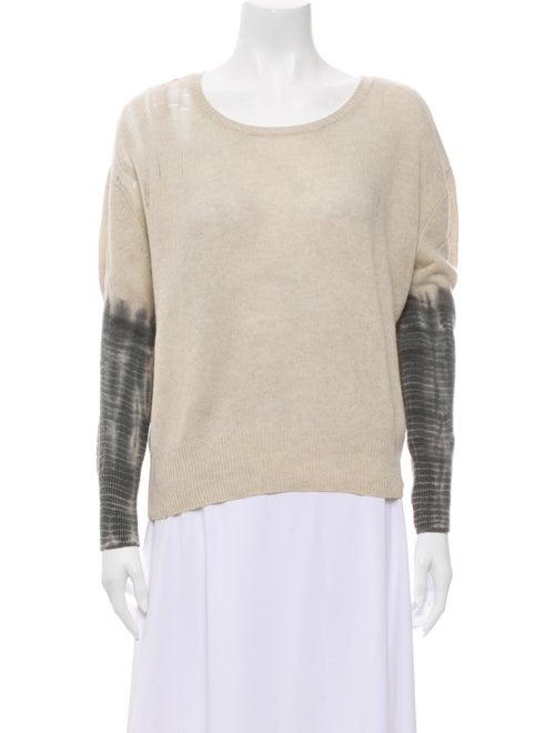 Raquel Allegra Cashmere Tie-Dye Print Sweater Grey