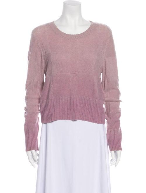 Raquel Allegra Cashmere Scoop Neck Sweater Pink