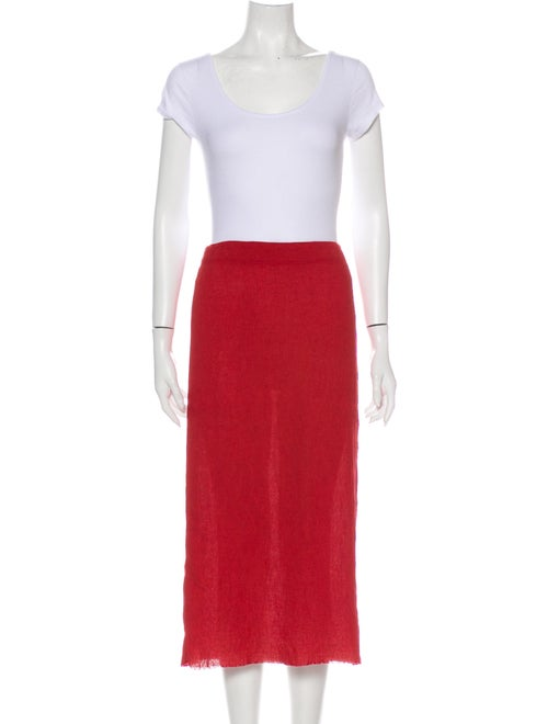 Raquel Allegra Kate Slip Long Skirt w/ Tags Red