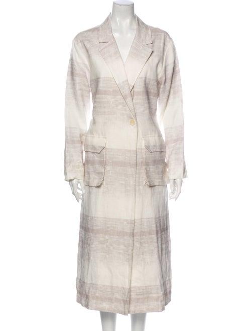 Raquel Allegra Linen Striped Jacket White - image 1